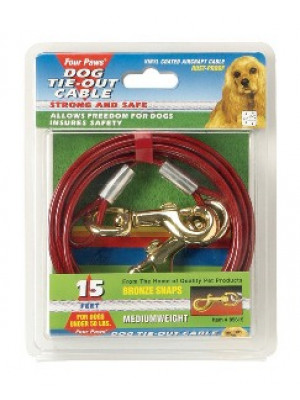 Four Paws 15' Medium Tie Out Cable