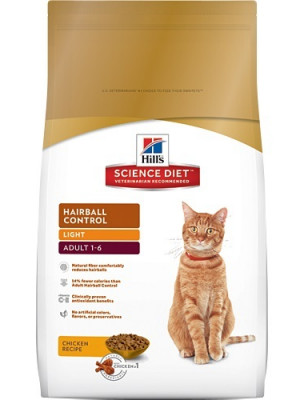 Science Diet Light Hairball Control Cat 15 Lb.