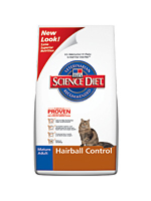 Science Diet Cat Adult 7+ Hairball Control 15.5 Lb