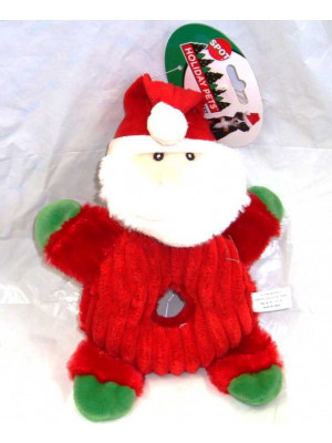 Donut Crinklers Santa Dog Toy