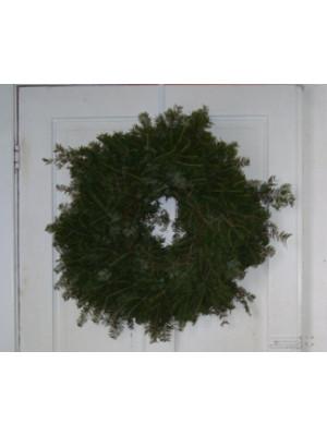 "Plain Fresh Balsam Evergreen Wreath 24"""