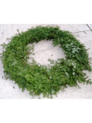 "Fresh Plain Balsam Evergreen Wreath 42"""