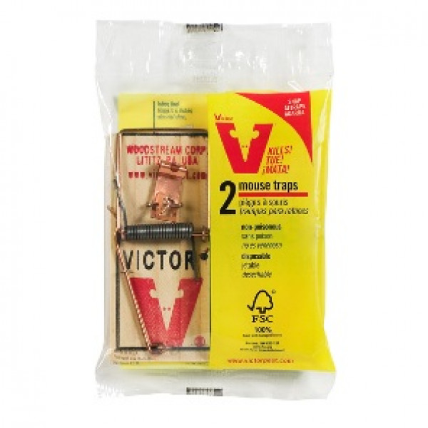 Victor Metal Pedal Mouse Trap 2 Pack