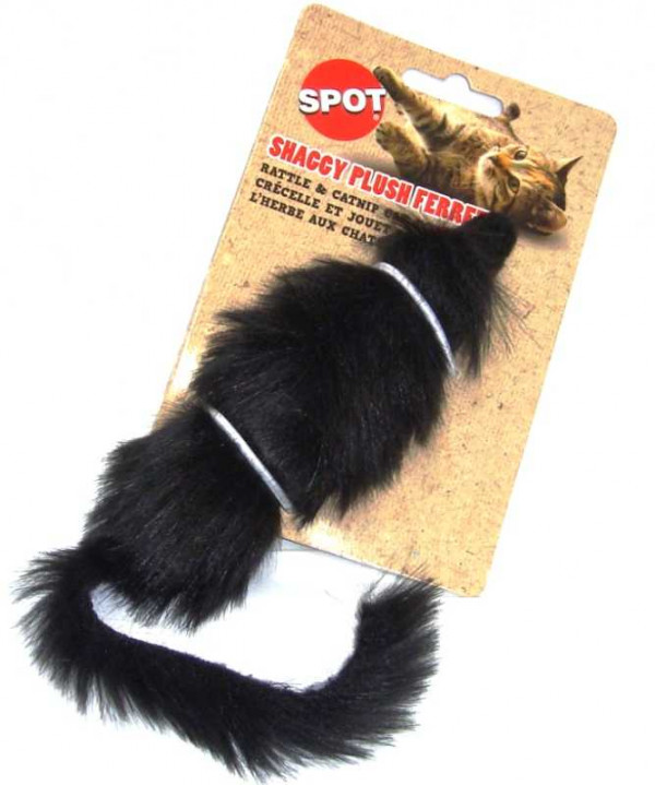 Shaggy Plush Ferret Cat Toy