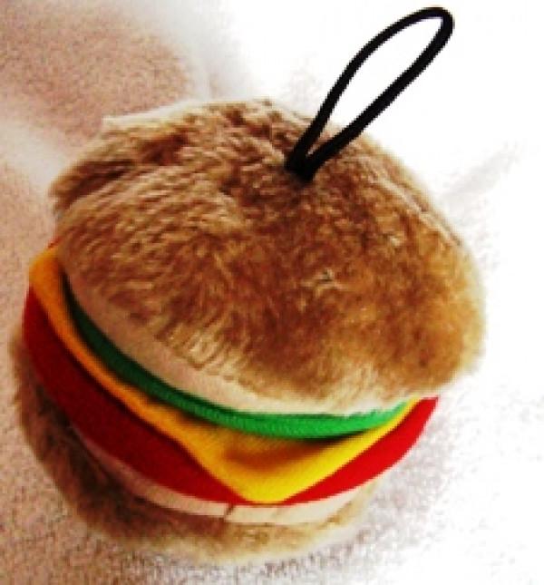 Hamburger Plush Dog Toy