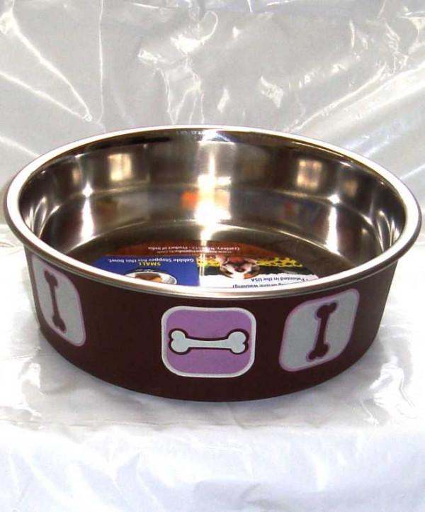 Bella Medium Pink/Brown Bone Bowl