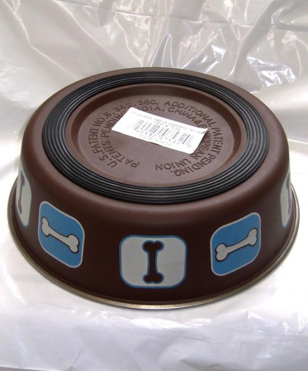 Bella Bone Brown/Blue Medium Bowl
