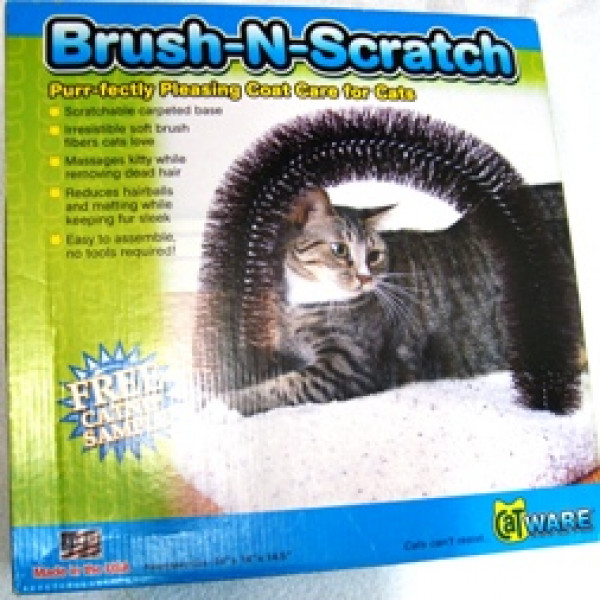 Kitty Brush & Scratch Cat Post