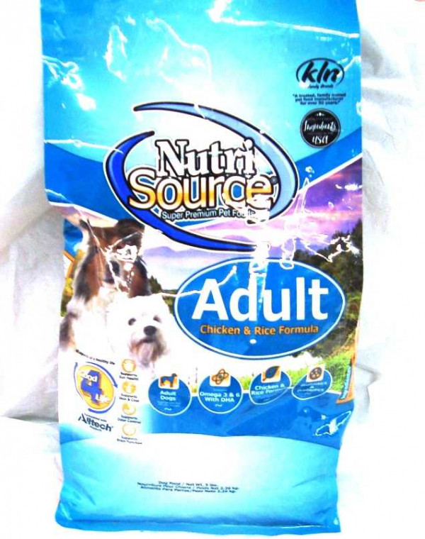 NutriSource Adult Dog Food 5#