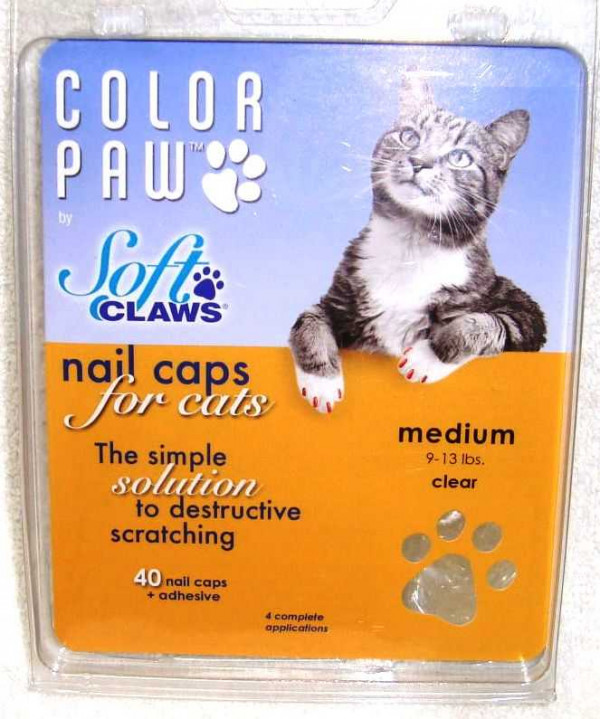 Soft Claws Cat Nail Caps Med
