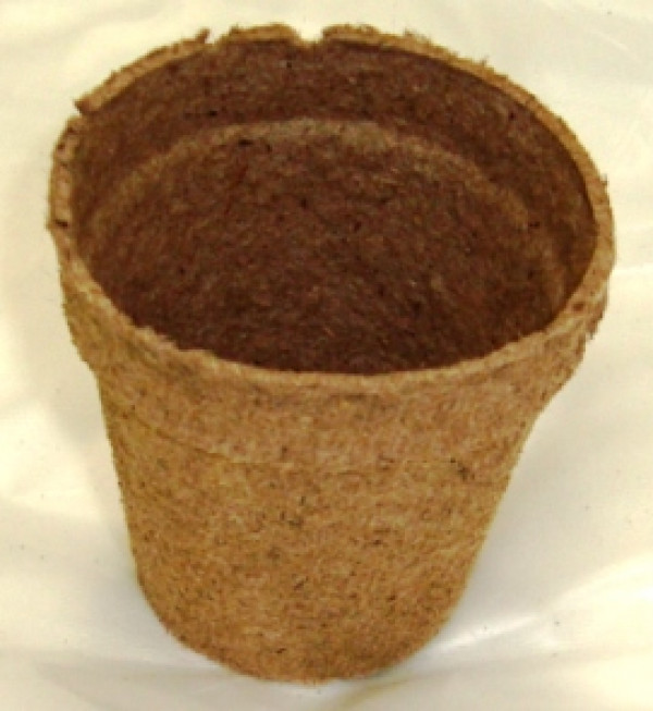"Plant Starter Round Peat Pot 2.25"" Tall"