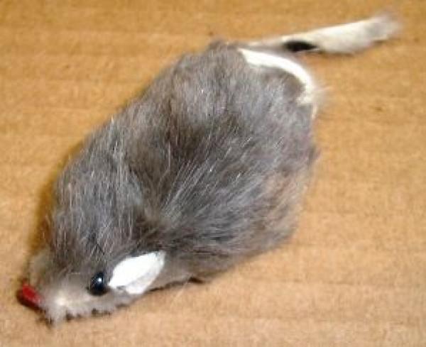 Tiny Fur Mouse Cat Toy